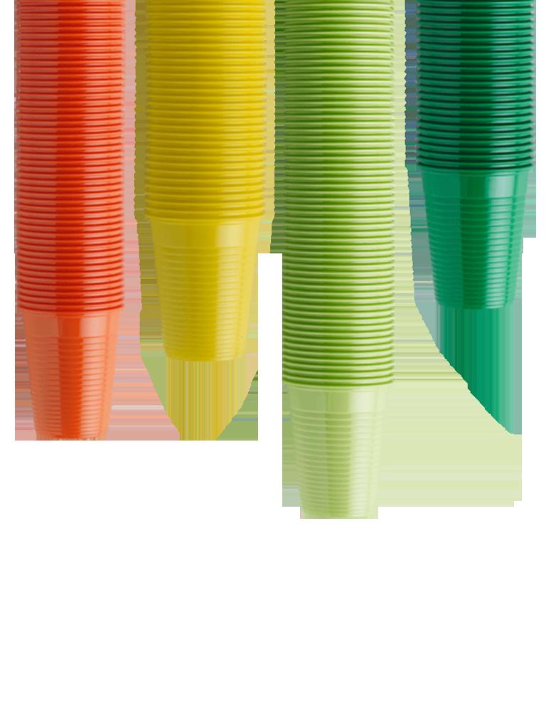 Plastic Cups Coloured