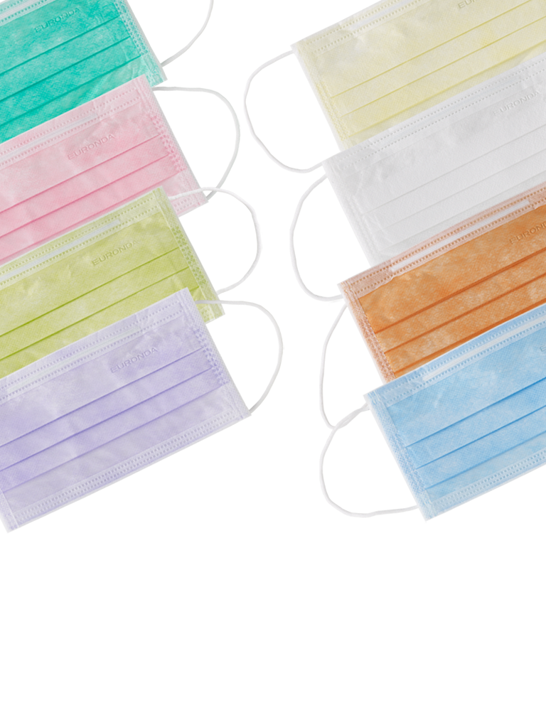 mascherine monouso colorate