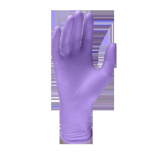 Guanto in lattice viola lilla