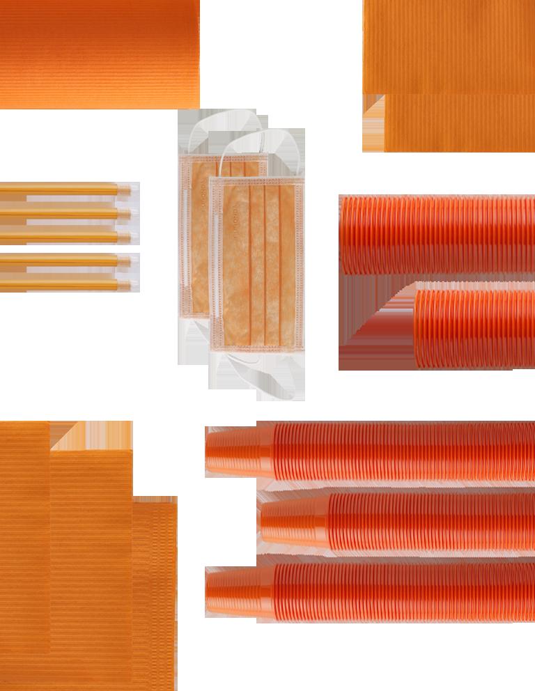 monouso arancioni