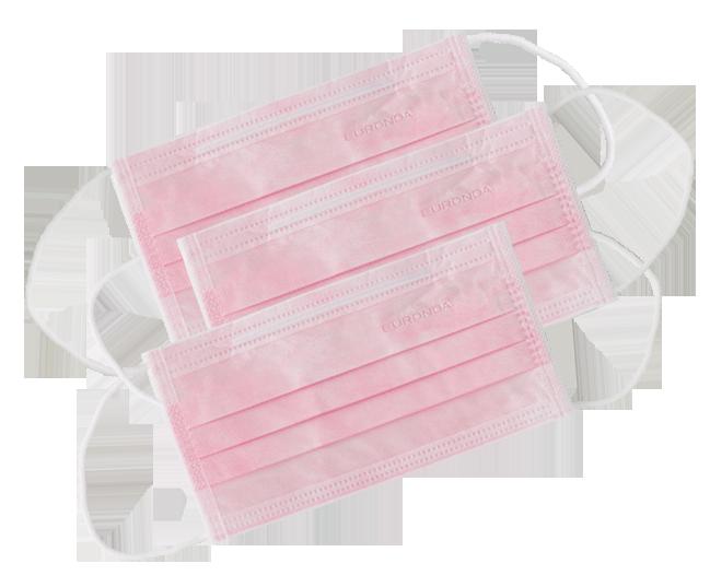 mascherine monouso rosa