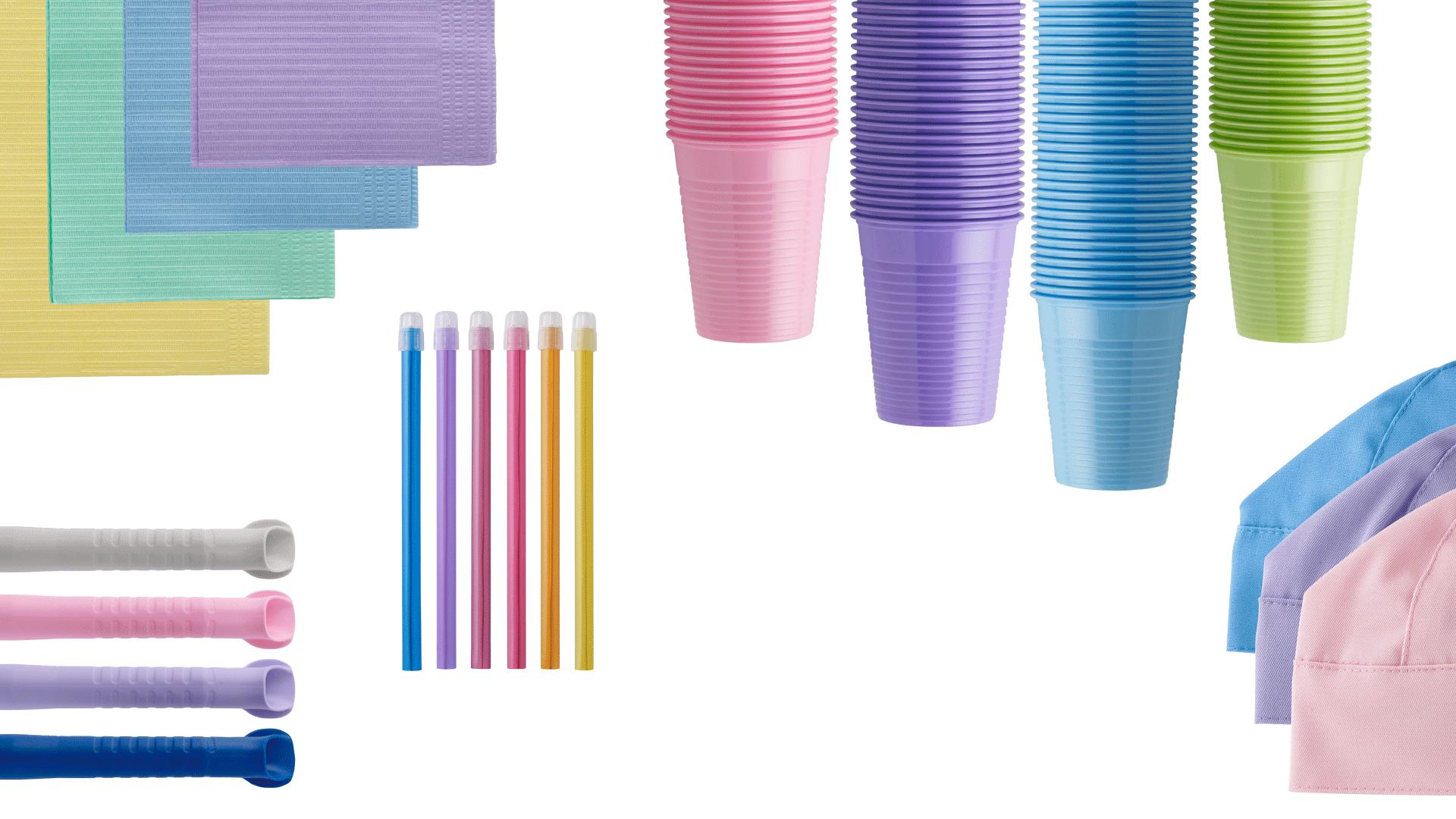 prodotti monouso colorati